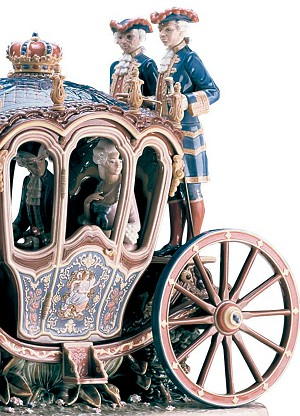 Lladro XVIIIth Century CoachPorcelain Figurine