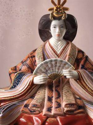 Lladro Hina Dolls - EmpressMixed Media Sculpture