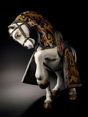 Lladro Oriental HorseMixed Media Sculpture