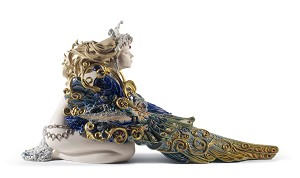 Lladro  Winged Beauty Woman Porcelain Figurine