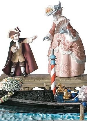 Lladro Carnival in Venice SculpturePorcelain Figurine