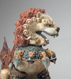 Lladro Guardian Lioness - RedMixed Media Sculpture
