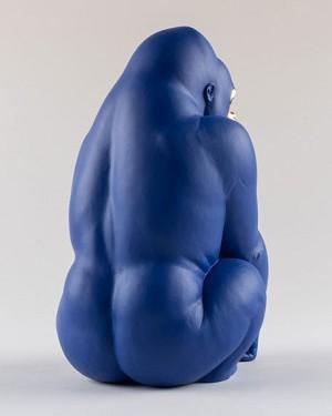 Lladro Gorilla Blue Gold EditionPorcelain Figurine