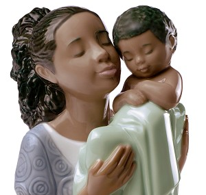 Nao Porcelain African American IN LOVING ARMS