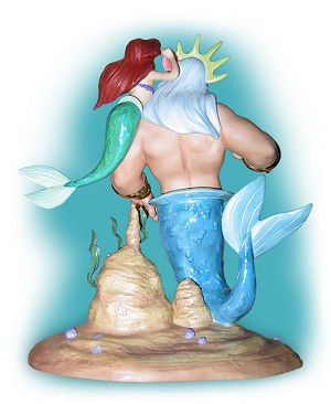 WDCC Disney Classics  King Triton & Ariel Morning, Daddy From The Little Mermaid