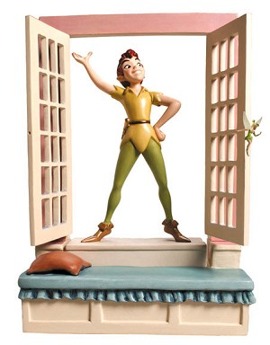 WDCC Disney ClassicsPeter Pan Window Base Off To Never Land Base