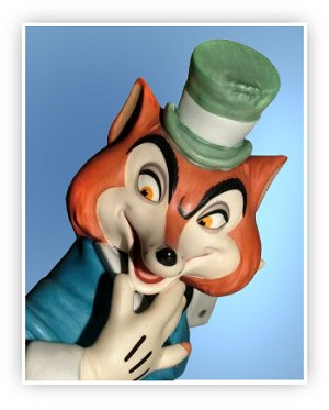WDCC Disney ClassicsPinocchio J. Worthington Foul Fellow Felonious Fox