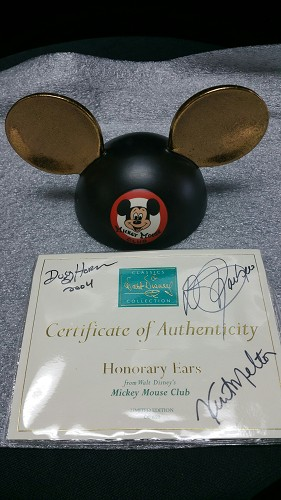 WDCC Disney Classics Mickey Mouse Club Ears Honorary Ears