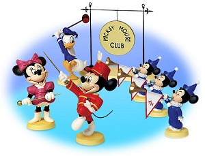 WDCC Disney Classics Mickey Mouse Club Mickey's Nephews Sounds The Trumpets