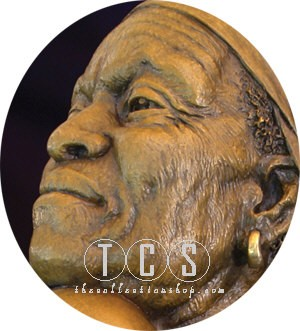 Thomas Blackshear Legends Embracing The Future Mixed Media Sculpture