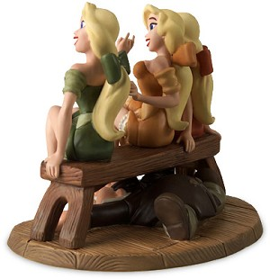 WDCC Disney ClassicsVillage Girls & LeFou Sitting Pretty From Beauty and The Beast