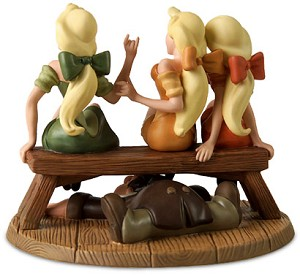 WDCC Disney Classics Village Girls & LeFou Sitting Pretty From Beauty and The Beast