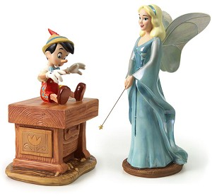 WDCC Disney Classics Pinocchio Blue Fairy And Pinocchio The Gift Of Life Is Thine