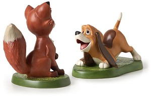 WDCC Disney ClassicsThe Fox And The Hound Copper And Todd The Best Of Friends