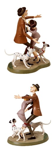WDCC Disney Classics 101 Dalmatians Roger And Anita And Pongo And Perdita Tangled Up Romance