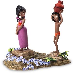 WDCC Disney Classics Mowgli & Village Girl Base Jungle Step Base