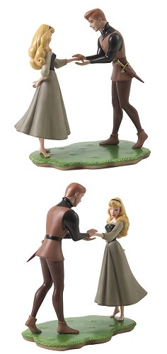 WDCC Disney ClassicsSleeping Beauty Prince Phillip And Briar Rose Chance Encounter