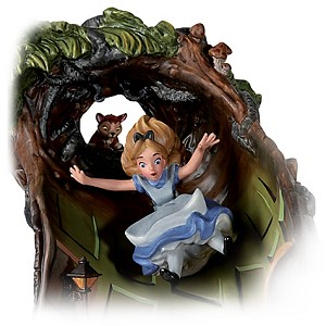 WDCC Disney Classics Alice In Wonderland Alice And Dinah Down The Rabbit Hole