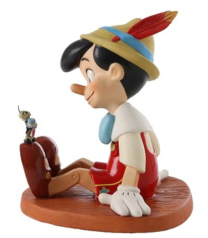 WDCC Disney ClassicsPinocchio And Jiminy Cricket Anytime You Need Me, You Know, Just Whistle!