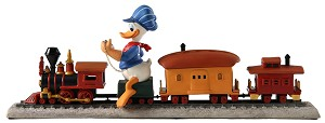 WDCC Disney ClassicsOut of Scale Donald Duck on Train Backyard Whistle Stop