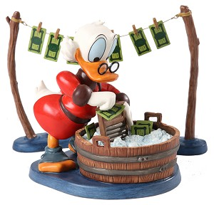 WDCC Disney Classics Uncle Scrooge Laundry Day
