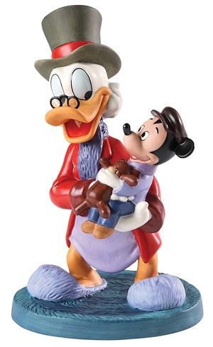 WDCC Disney Classics Classic Cartoons Scrooge and Tiny Tim Tidings of Joy and Goodwill