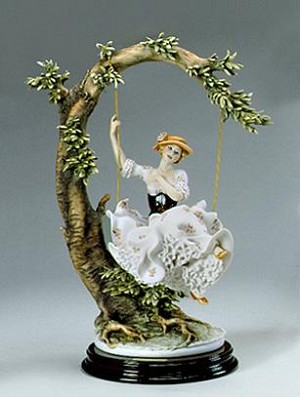 Giuseppe Armani Young Lady On Swing One Of A Kind Coloration