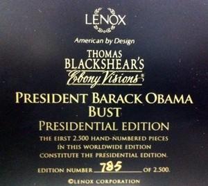 Ebony VisionsPresident Barack Obama Bust Presidential Edition