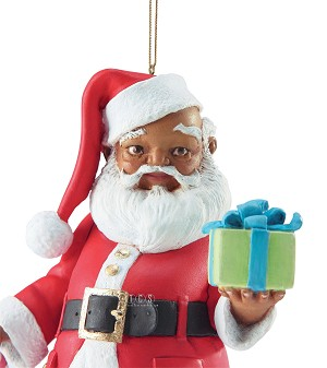 Ebony Visions  Mr Claus 2013 Ornament