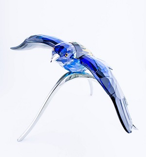 Swarovski Crystal Blue Roller, Paradise Bird, Turquoise