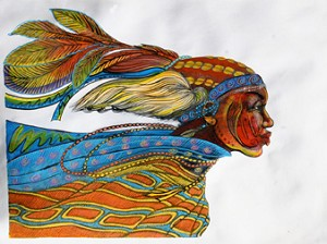 Charles Bibbs African Windface Limited Edition Hand Painted