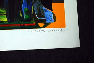 Romare Bearden  Mecklenburg Autumn Signed Lithograph
