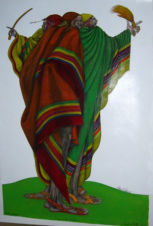 Charles Bibbs Cloaks Of The Herdsmen Limited Edition Hand Painted