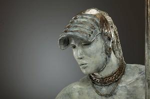 George Nock SAMBURU WARRIORBronze Sculpture