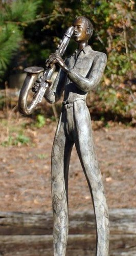 George Nock SAXOPHONIST Bronze Sculpture
