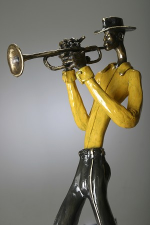 George Nock Silk Bronze Sculpture