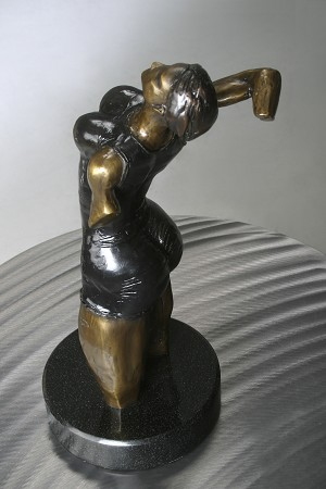 George Nock The Suit Bronze Sculpture