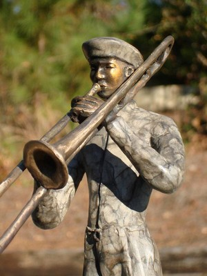 George Nock TROMBONIST Bronze Sculpture
