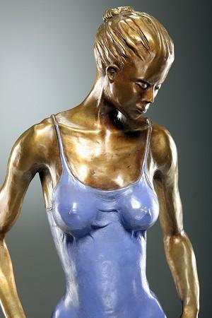 George NockWADING DIVA IIBronze Sculpture