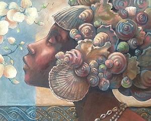 John Holyfield EBONY GODDESSES SETGiclee On Canvas