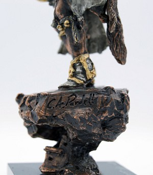 Christopher Pardell  Ahote - Kachina Mixed Media Sculpture