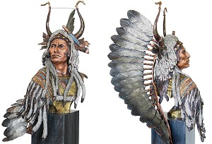 Christopher Pardell Esteemed Warrior - Chief Mato-to'peBronze Sculpture