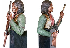 Christopher Pardell  Rebellious - Chief Geronimo Bronze Sculpture