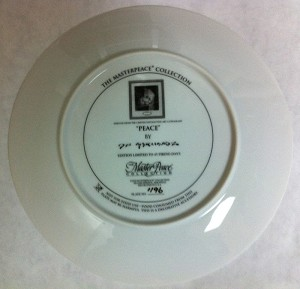 Dan GerhartzPEACE LIMITED EDITION COLLECTOR PLATE