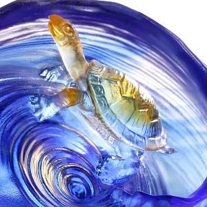 Liuli Crystal Crystal Turtle Figurine (Achievement)