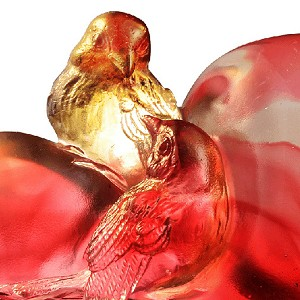 Liuli CrystalHandcraft Crystal Bird Figurines (Romance and Love) - Amorous Words