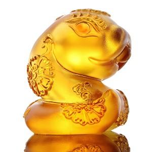 Liuli Crystal Zodiac Collection Snake, Moving Forward - Serpentine