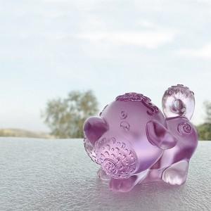 Liuli Crystal Zodiac Collection (Dog, Lucky Star) - Prosperity Comes Along