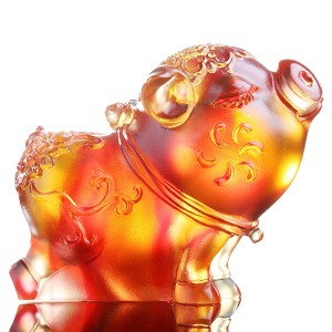Liuli CrystalZodiac Collection (Pig, Aura of Elegance) - Haha