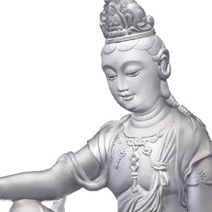 Liuli Crystal  Guanyin of Fulfillment and Purity